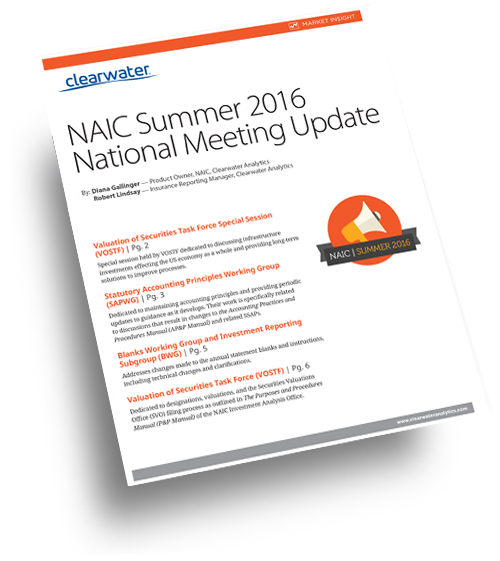 NAIC Summer 2016 National Meeting Update